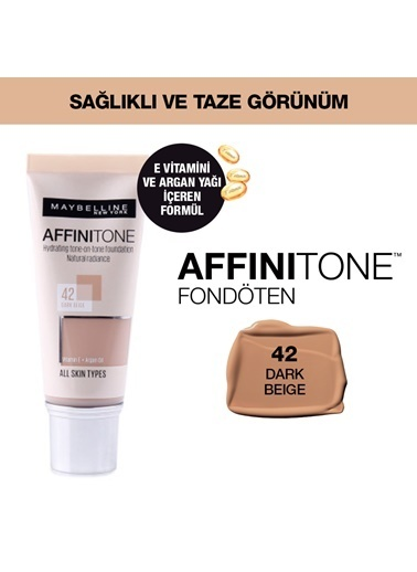 Maybelline Affinitone Perfecting Fond.Wiht 42 Dark Renkli